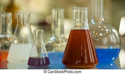 flacon, verre, laboratoire