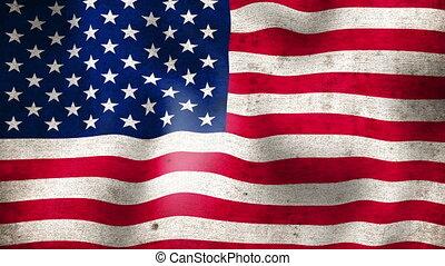 flag., américain