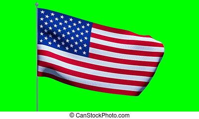 flag., américain, usa, cromakey
