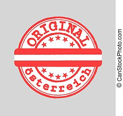 flag., language), allemand, (austria, timbre, nation, texte, logo, vecteur, osterreich, milieu, attachement, original
