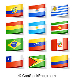flags., america., mondiale, sud
