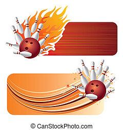 flammes, bowling
