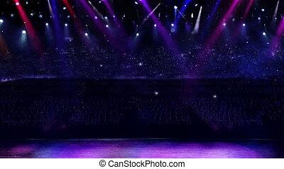 flash, concert, appareil photo, lumière
