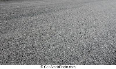 flatting, chaud, steamroller, asphalt., enduisage
