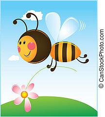 fleur, abeille