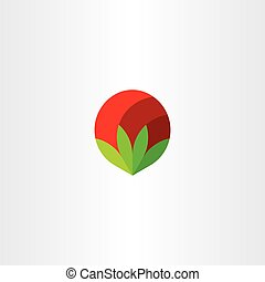 fleur, art, agrafe, signe, vecteur, logo, icône