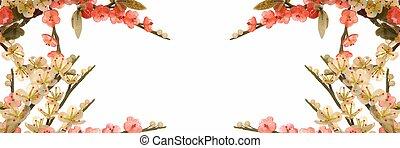 fleur, cerise, jade, 1