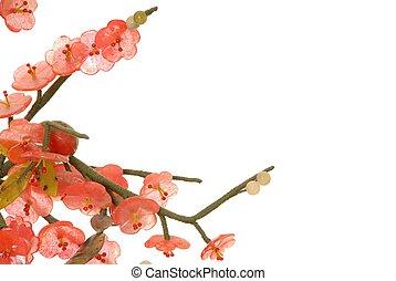fleur, cerise, jade, 7