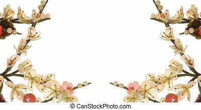 fleur, cerise, jade, 9