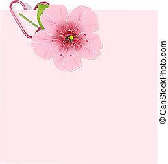 fleur, cerise, lettre