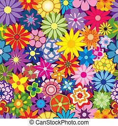 fleur, coloré, fond