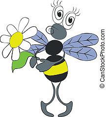 fleur, couleur, 02, abeille