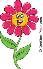 fleur, dessin animé
