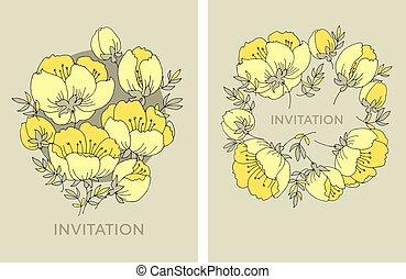 fleur, fleur apple, rose, arbre, jaune, élégant, tendre, pattern.