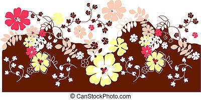 fleur, fond, floral