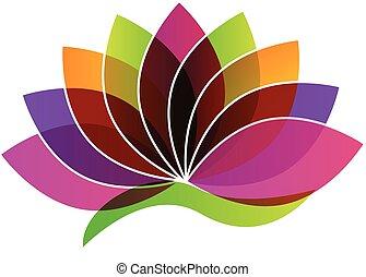 fleur, logo, lotus