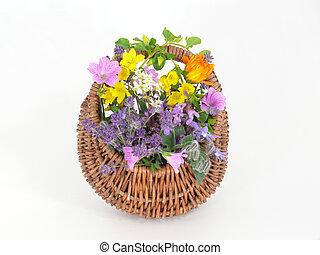 fleur panier
