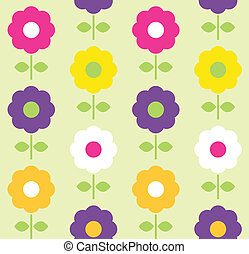 fleur, printemps, seamless, vecteur, conception, modèle