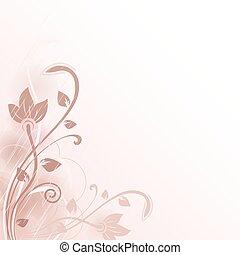 fleur, résumé, space., vecteur, fond, copie