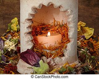 fleur, saveur, puissance, thérapie