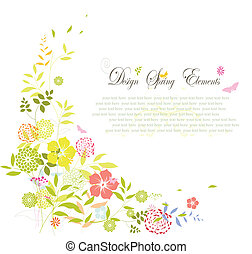 fleur source, fond