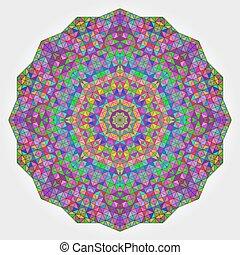 fleur, toile fond., coloré, résumé, cercle, mosaïque, kaléidoscope