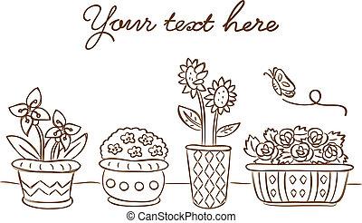 fleurir pots