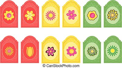 fleurs, 2, étiquettes