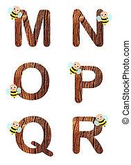 fleurs, alphabet, 3