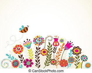 fleurs, carte voeux