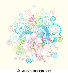fleurs, défilements, printemps, résumé