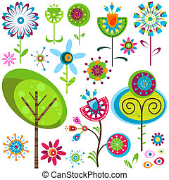 fleurs, fantaisie