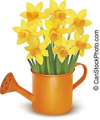 fleurs fraîches, jaune, printemps