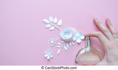 fleurs, parfum, fleur, arrangement., parfum
