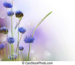 fleurs, résumé, frontière, conception