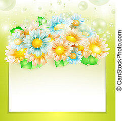 fleurs ressort, papier, bannière