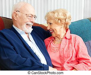 flirt, personne agee