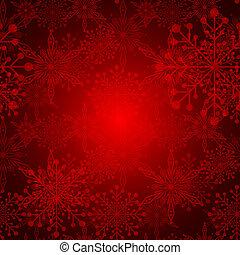 flocon de neige, résumé, noël, fond, rouges