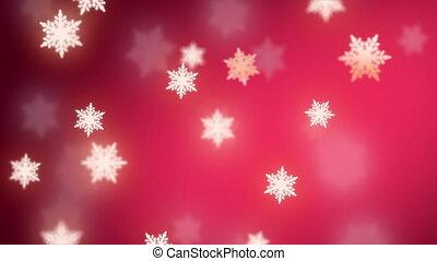 flocons neige, fond, tomber