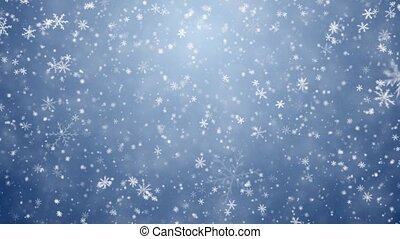 flocons neige, tomber