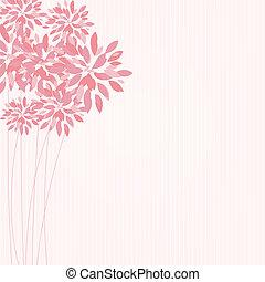 floral, élégant, vecteur, fond, illustration