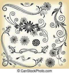 floral, éléments décoratifs