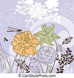 floral, agréable, carte
