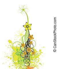 floral, arrière-plan., résumé, vecteur, conception