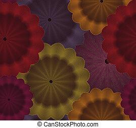 floral, arrière-plan., résumé, vecteur, seamless