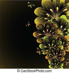 floral, arrière-plan., résumé, vecteur