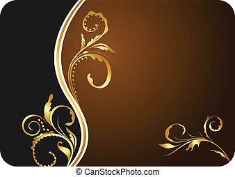floral, carte, conception, affaires illustration
