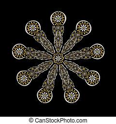 floral, conceptuel, ornement, conception, bijouterie