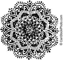 floral, emblème, conception