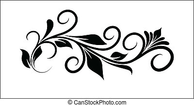floral, forme, conception